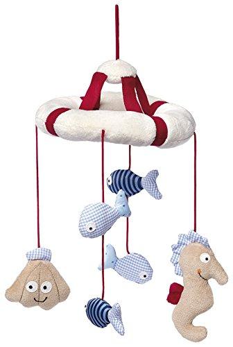 sigikid, Mädchen und Jungen, Mobile mit Meerestieren, Toy Ahoi, Rot/Beige/Blau, 40982