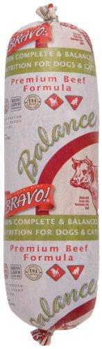 Bravo Balance Beef Blend Frozen Dog Food 5 Pound Chub