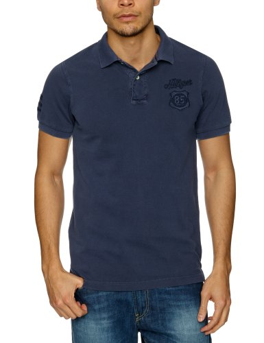 Tommy Hilfiger Pilot Polo G/D Shortsleeve 480 Polo Men's T-Shirt Mood Indigo Small