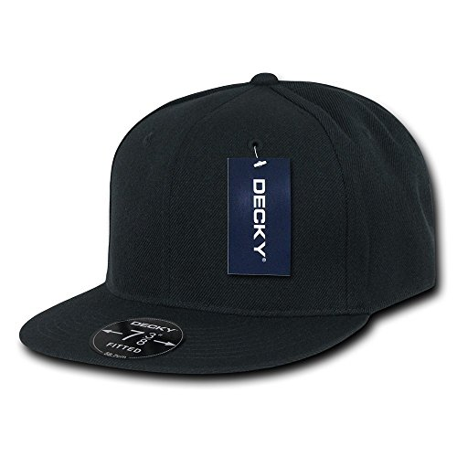 DECKY Retro Fitted Cap, Black, 7 3/4 (Fitted Hats compare prices)