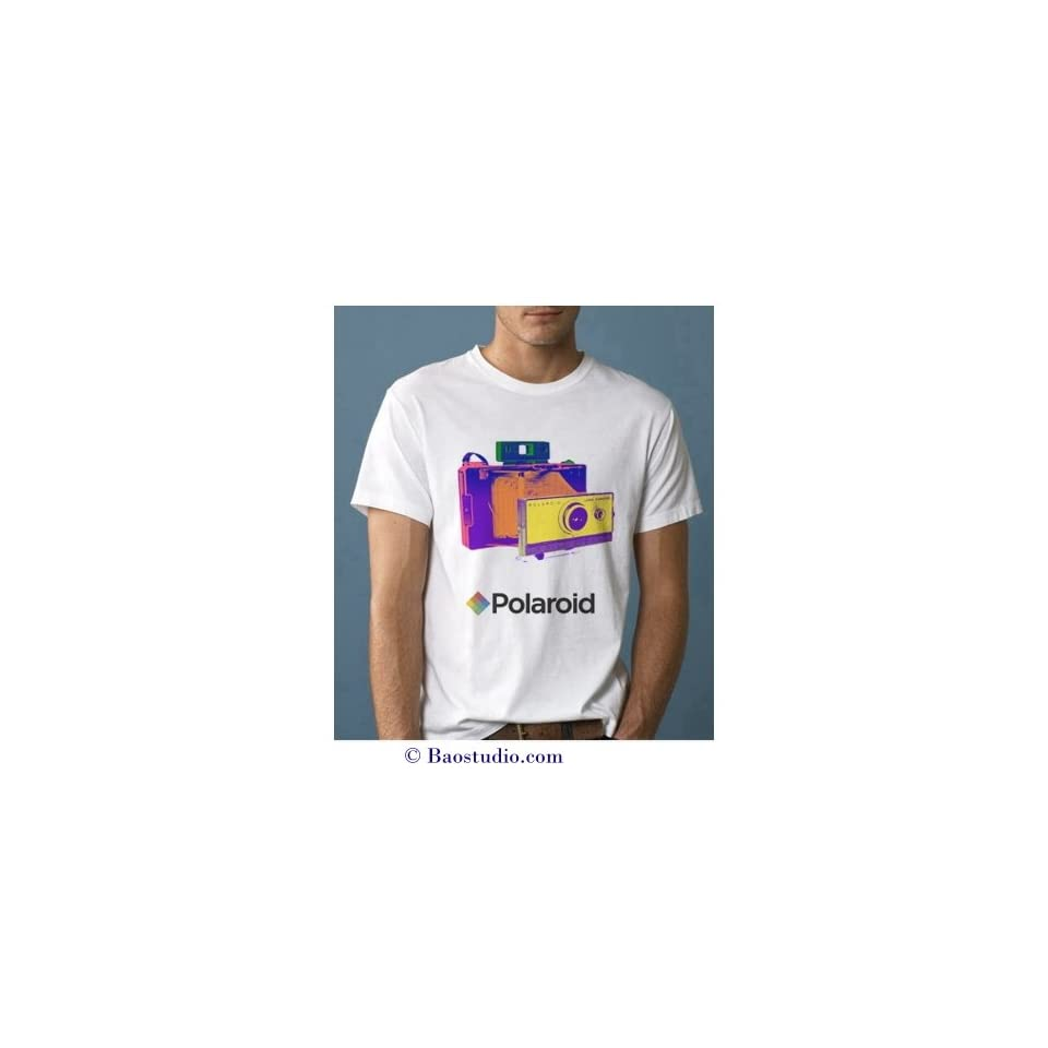 Polaroid Land Camera   Pop Art Graphic T shirt (Mens Medium)