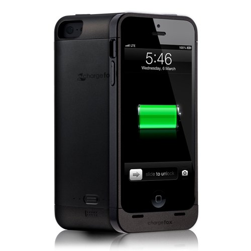 Special Sale Chargefox Volpes Series Power Case for iPhone 5 (2000mAh) - BLACK- with screen protector