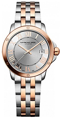 Raymond Weil Tango Silver Dial Steel and Rose Gold PVD Ladies Watch 5391-SB5-00658
