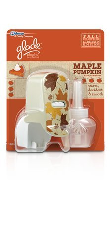 Glade Plugins Scented Oil Warmer & (1) Refill ~ Maple Pumpkin