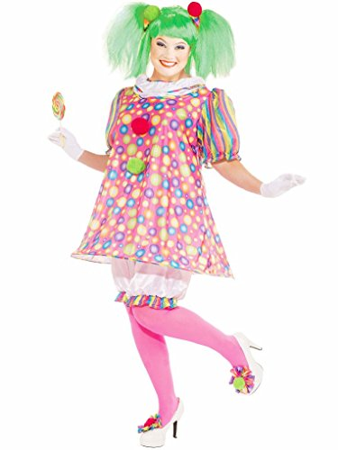 Mygems Tickles The Clown Adult Plus Size Fancy Dress Costume ()