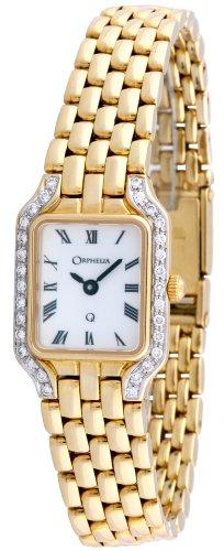 Orphelia - Mon-7027 - Montre Femme - Or 18 Carats - Diamants 0.3 Cts - Quartz Analogique - Cadran Blanc - Bracelet Or Jaune 18 Carats