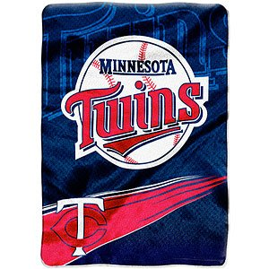 Minnesota Twins 60''x80'' Royal Plush Raschel Throw Blanket - Speed Design