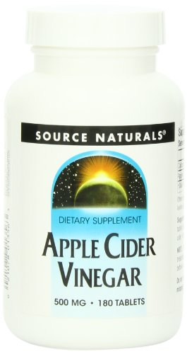 Source Naturals Apple Cider Vinegar 500mg, 180 Tablets (Pack of 2)