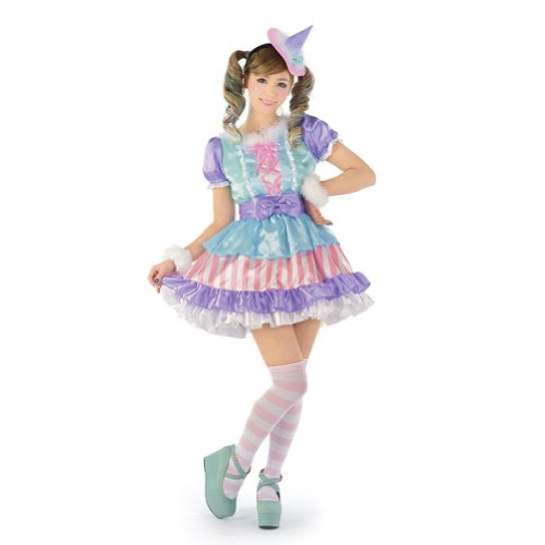 JiG Paradise Women's Japanese Cosplay Macaron Witch Costume One Size Multicoloured