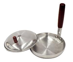ウッディ アルミ蓋付 親子鍋 16cm H-2715