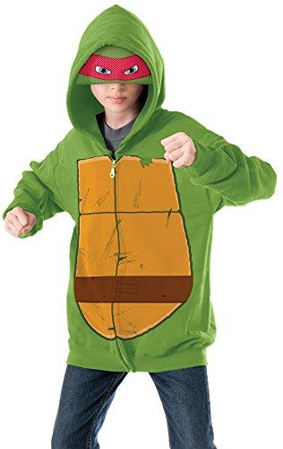 Teenage Mutant Ninja Turtles Raphael Hoodie Costume, Medium (Kids Ninja Turtle Sweatshirt compare prices)