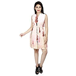 LALANA Multicolor Abstract Print Cotton Dress