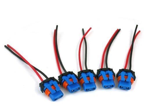 Led Light Bulb Car Truck Socket Xenon Plugs Connector Fog Fit For 9006/Hb4 Blue 5Pcs