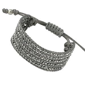 Canyon B4314 Bracelet Manchette Femme Cordon Cuir Argent 5