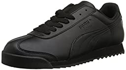 PUMA Women\'s Roma Basic Sneaker,Black/Black,7.5 B US