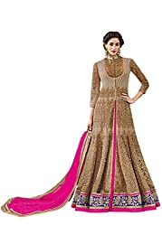 Jinaam Dresses Net Anarkali Style Dress Material