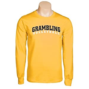 Grambling State Gold Long Sleeve T-Shirt-Large, Volleyball