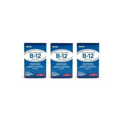 Gnc Vitamin B12 5000 Zipmelt 60Tabs (3 Packs)