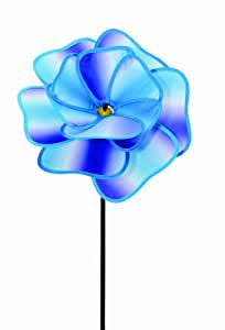 Spoontiques Flower Wind Spinner, Purple and Blue (Discontinued by Manufacturer)