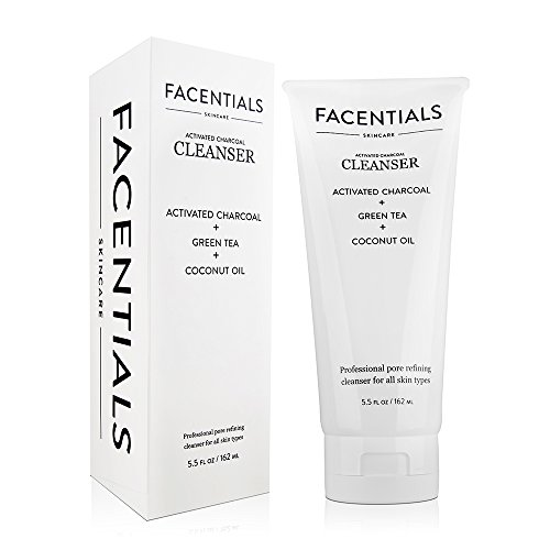 [Facentials All Natural Facial Cleanser with Activated Charcoal and Green Tea Extract, 5.5 oz / 160 ml + Free eBook. Removes Blackheads and Revives Clogged Pores with a Blend of Organic] (Animal That Starts With J)
