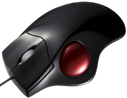 SANWA SUPPLY親指ボール操作のエルゴノミクスデザイン 光学式トラックボール ブラック MA-TB39BK
