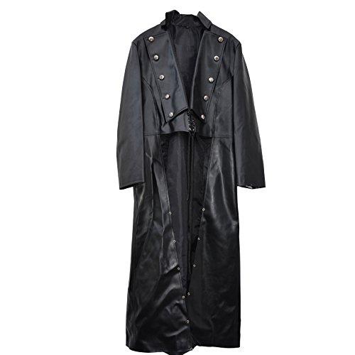 Il celibato 31016514.008M Uomini Steampunk gotico vestito in similpelle cappotto o una giacca - lunghezza al polpaccio posteriore, grande M, nero