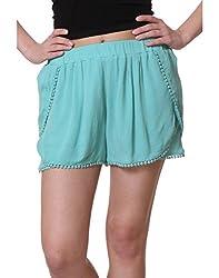 PURYS POM POM Mint Shorts