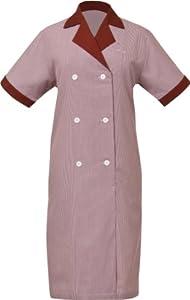 Uniform Works HKDF-TER-3XL Junior Cord Women's Housekeeping Dress, Terracotta, 3XL