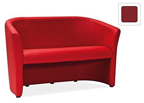 Sofa 'Amersfoort' Couchgarnitur Modern, Farbe:Rot