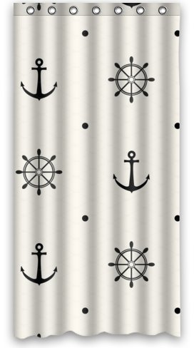 Standard Store Custom Nautical Anchor And Rudder In Easy Style Shower  Curtain 36