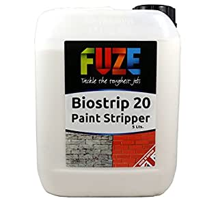 Biostrip 20 Paint Stripper 5 Litres. Paint remover. Water based solution to effortlessly remove paint and varnish from Wood, Brick, Concrete, Metal, uPVC, Glass and More