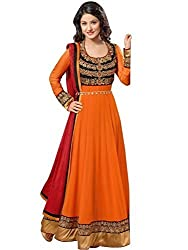 Heeniza Fenta Orange dress material K.K BROTHERS