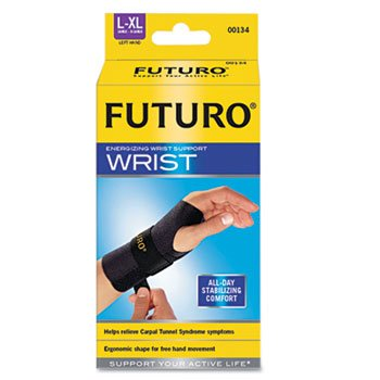 "Energizing Wrist Support, Large/Xlarge, Fits Left Wrists 6 3/4"" - 8 1/2"", Black front-1056983"
