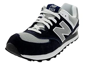 New Balance Men's ML574 Lifestyle Sneaker,Navy/Grey,10 D US
