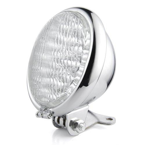 """Motorcycle Chrome 5"""" Led Headlight Head Lamp For Harley Bobber Chopper Touring"""