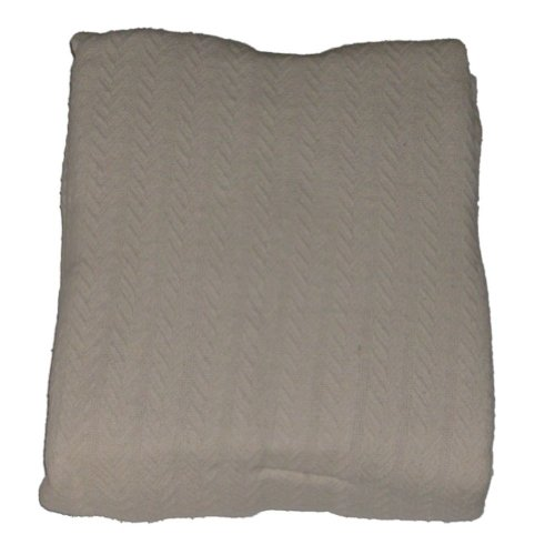 Home Creamy Ivory Egyptian Cotton Twin Blanket Single Bed Bedding front-1007938