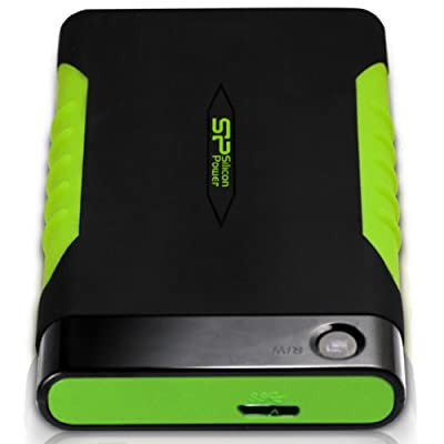 Silicon Power Rugged Armor A15 1TB 2.5-Inch USB 3.0 Drop Tested MIL-STD-810F Military Grade External Hard Drive (Black)