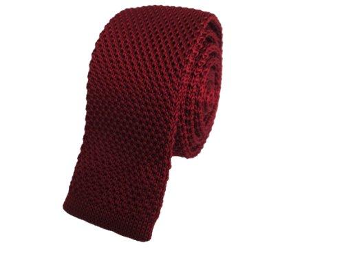 Burgundy Knitted Skinny Tie Reviews