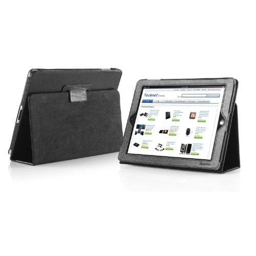 TeckNet iPad Folio Leather Case Cover and Flip Stand For Apple iPad, with Stand Feature