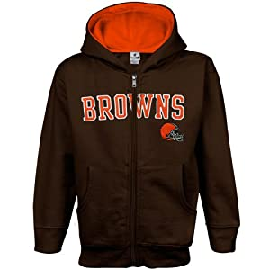 NFL Cleveland Browns Infant Toddler Sportsman Full Zip Hoodie by Football Fanatics
