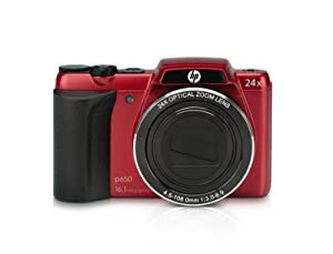HP P650R 16.1 MP Digital Camera with 24x Optical Image Stabilized Zoom and 3-Inch LCD (Red) by Agfa Cameras
