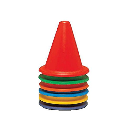 Sportime Super Safe Flexikone - 15 inches - Set of 6 - Assorted Colors (Sportime Cones compare prices)