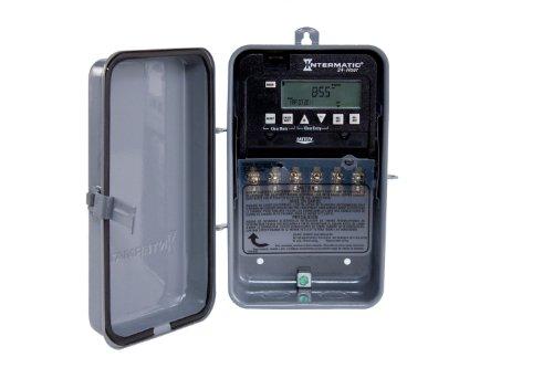 Intermatic ET1125CR 24 -Hour 30-Amps 2XSPST OR DPST Electronic Time Switch, Clock Voltage 120-Volt – 277-Volt NEMA 3R