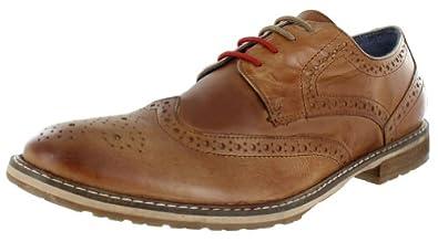 Ben Sherman Mens Bergen Wingtip Oxford Shoe, Tan, US 13-13.5