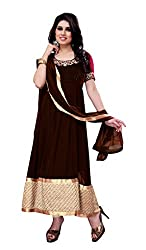 Indian Boutique Maroon color Pure dhupion silk top with net dupatta with lace border,pure santoon in bottom and inner