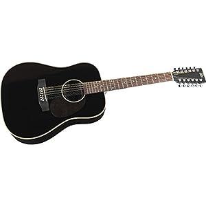 rogue herringbone 12 string acoustic guitar black musical instruments. Black Bedroom Furniture Sets. Home Design Ideas