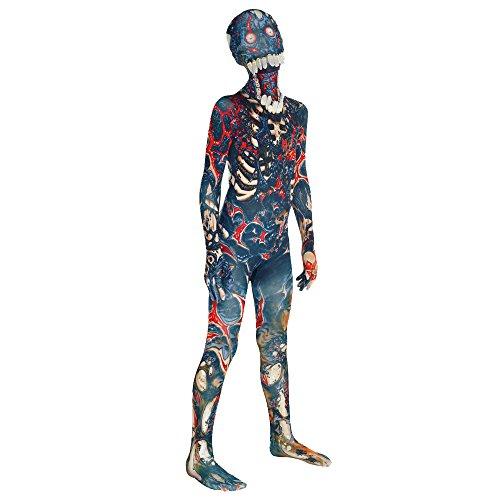 Burnt Zombie Jaw Dropper Kids Monster Morphsuit Fancy Dress Costume - size Medium 3