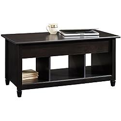 Sauder Edge Water Lift-Top Coffee Table, Estate Black Finish