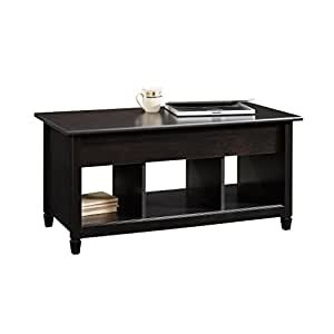 Sauder Edge Water Lift Top Coffee Table Estate Black Finish Kitchen Dining