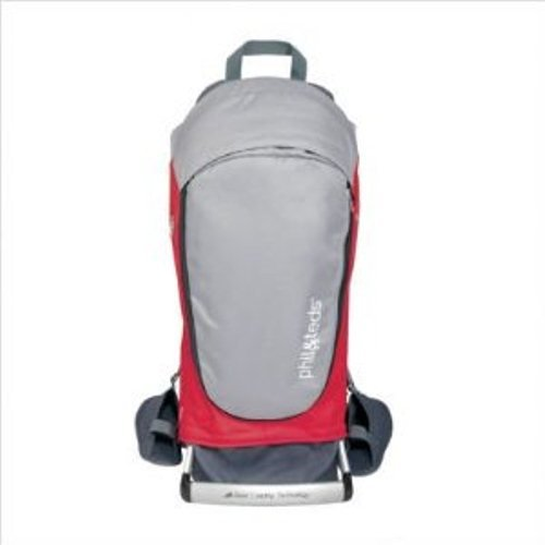 phil&teds Escape Baby Carrier, Red/Charcoal